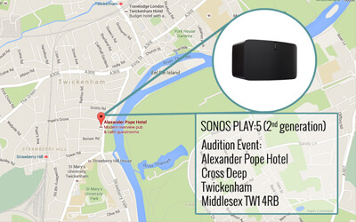 THE SONOS PLAY:5 (2ND GENERATION) AUDITION EVENT